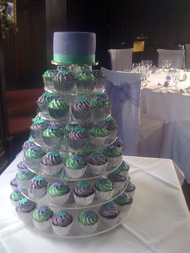 wedding cake delivery charges sugadeaux teal amp purple wedding sugadeaux cupcakes flickr 22428