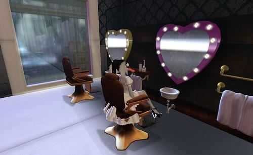 Mirror Heart Shaped Cake