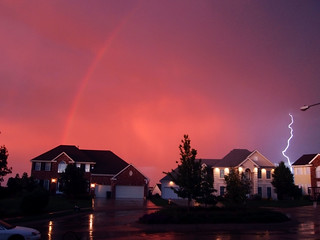 Rainbow and Lightning | by CodyErvin