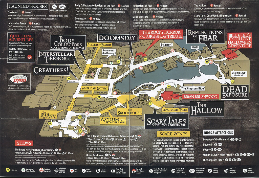 universal halloween horror nights 2008 event guide map by paxton holley - Halloween Horror Night Theme