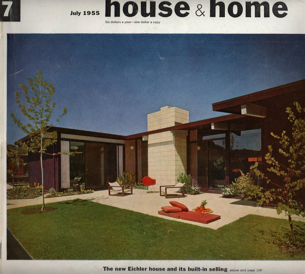 cover house home july 1955 by atomicpear - 1955 Home Design