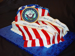 Navy Retirement Cake | by Liza2345