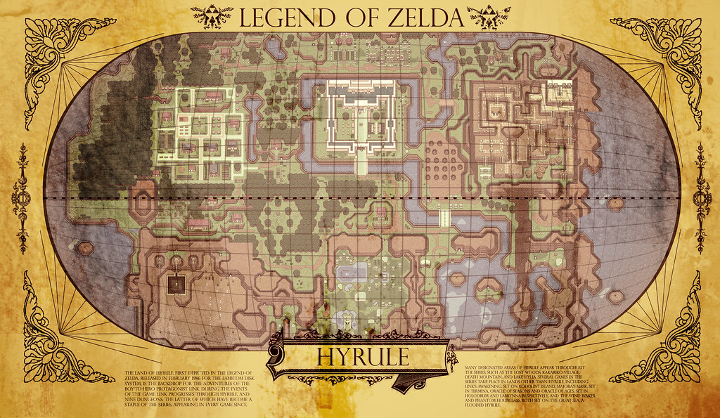 Hyrule Map Info text found here enpedia wiki Hy…