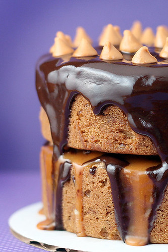 Butterscotch Brownie Birthday Cake | by Bakerella