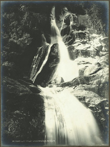 Mitchell Falls, Lake Brunner, between 1900 and 1905 | by National Library NZ on The Commons
