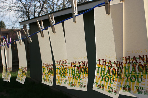 Thank You Note Letterpress | by robert.barney
