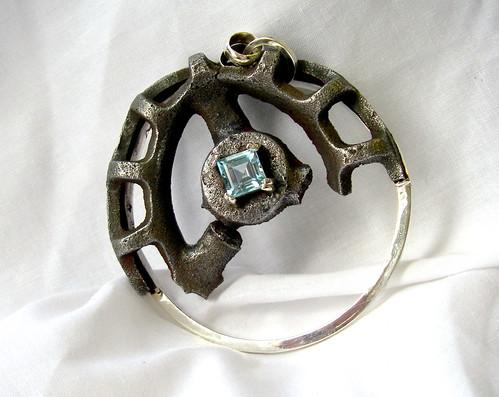 Silver Blue Topaz Eternity Ring