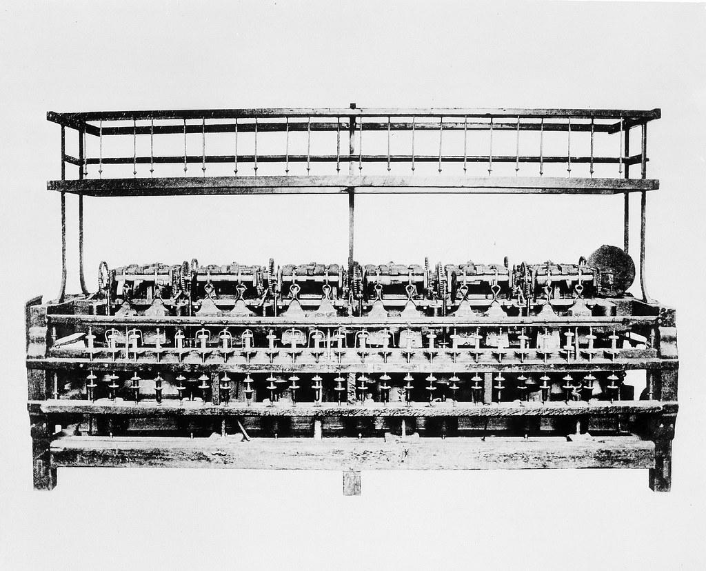 Slater Spinning Frame | Description: The 48-spindle spinning… | Flickr