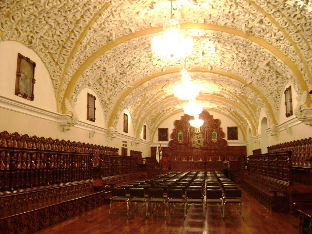 interior del Salón Barroco en el Edificio Carolino
