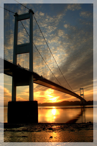 The Severn Bridge at Sunrise | by -terry-