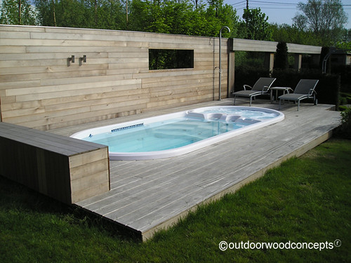 Terras met zwembad gevelbekleding in w r ceder profiel flickr - Deco terras zwembad ...