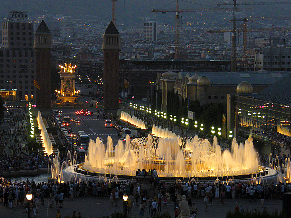 Image result for Magic Fountain show barcelona