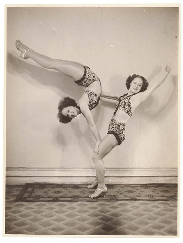 Turner Twins, acrobats, 1937 / by Sam Hood | by State Library of New South Wales collection