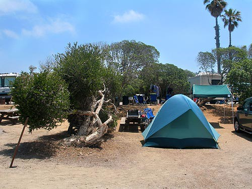 Map Of San Elijo State Beach Campground