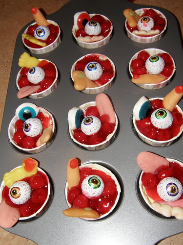 Bloody Mini cheesecakes with eyeballs and bodyparts | by yeah_itsme_al