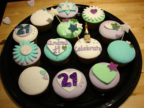 21st Birthday cupcakes | by monicoll