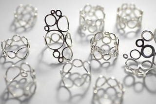 Bubble Lace Series Rings (and a smidge of a brooch) | by ColleenBaran