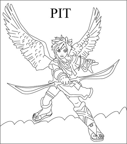 pit pit from super smash bros brawl drawingskillz flickr Super Smash Ganondorf pit by drawingskillz pit by drawingskillz
