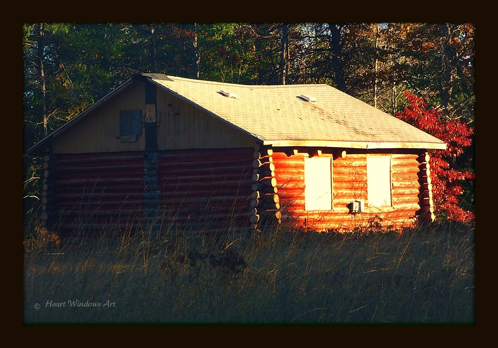 Michigan Log Cabin | I noticed this cabin the other day on a