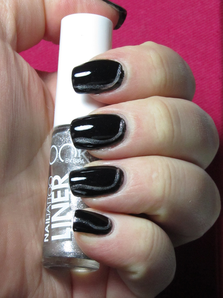 In Space No One Can See You Do The Robot Nail Art - Step 1… | Flickr