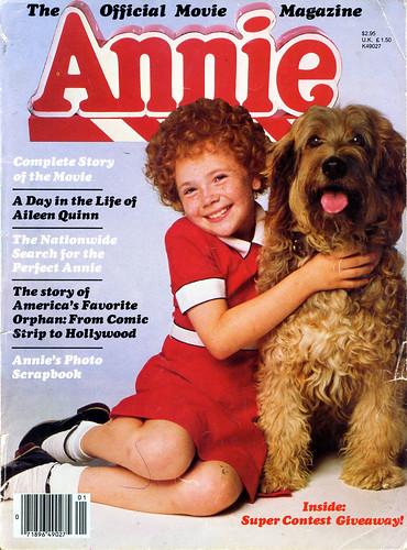 1982 annie movie magazine cover