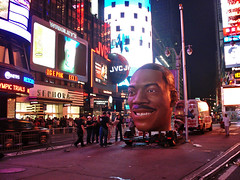 Eddie's head, Times Square | by Hard Seat Sleeper