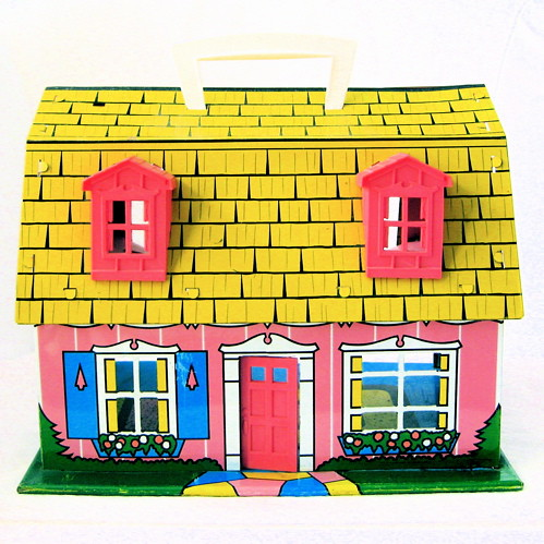 Vintage Pink Tin Dollhouse | by Picnic by Ellie
