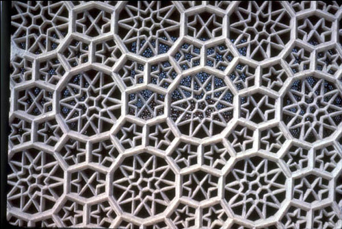 The Tomb Of Itimad Al Dawla In Agra Detail Of The Marble