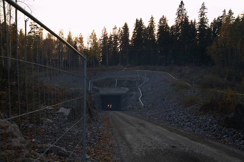 A service entrance to the Päijänne tunnel | by the-tml