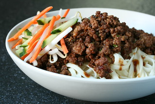 Zha Ziang Mian Garnished with Veggies | by Sunday Nite Dinner