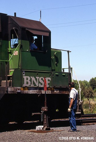 BNSF Conductor at Prineville Jct, OR | by ovondrak