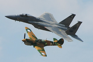 F-15 and P-40 Heritage Flight | by Dave77459