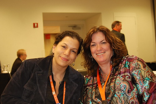 Judith deCabbit Lewis & Kim Krause Berg at SMX East 2008 | by storyspinn