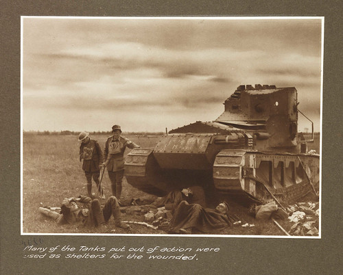 Many of the tanks put out of action were used as shelters for the wounded | by National Science and Media Museum