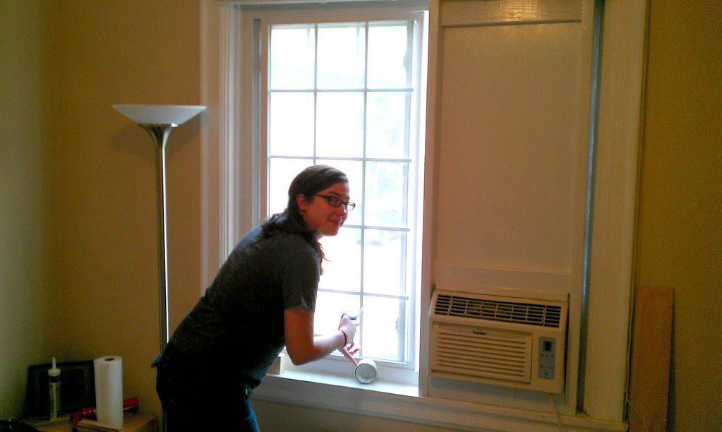 Sliding Window Air Conditioner Frame - Installed from Insi… | Flickr