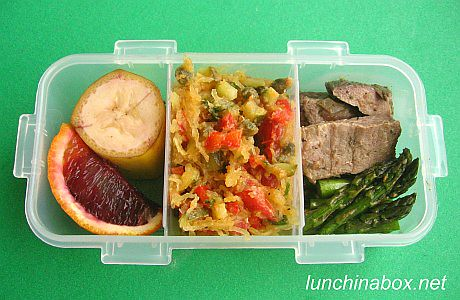 Small spaghetti squash & lamb bento lunch | by Biggie*