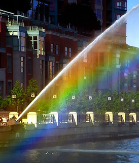 Chicago - Centennial Fountain Water Arc & Rainbow (Sunny - 5:05 P.M.) | by David Paul Ohmer