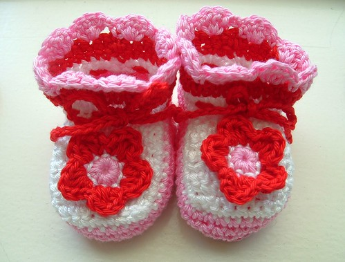 Baby Booties Red White & Bl..  Pink! | by TeenyWeenyDesign/Adrianne