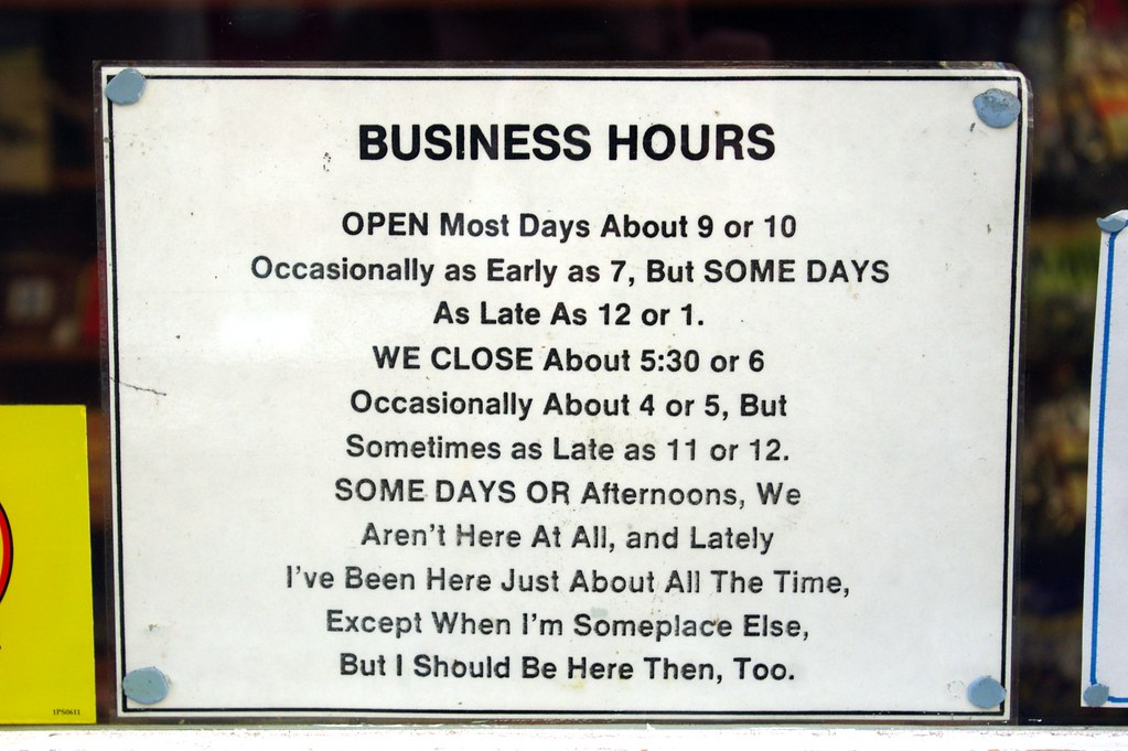 Business Hours Message On The Door Of A Fudge Shop In Fowe Flickr