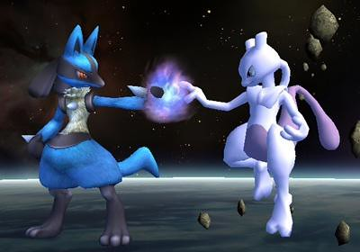 lucario and mewtwo two alike fighters lucario and mewtwo crash
