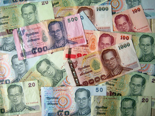 Thai Baht. Image by: Philip Roeland, CC.