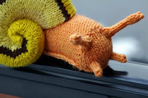 Knitting Pattern For Toy Snail : Knit Gastropod Pattern: Garden Snail by Hansi Singh ...