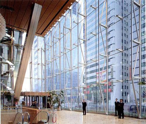 Gs tower seoul view of interior atrium of the gs tower for Interior design agency shanghai