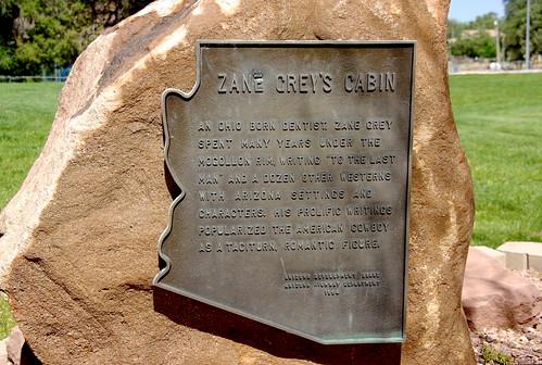 Zane Grey S Cabin Payson Arizona Monument Sign Flickr