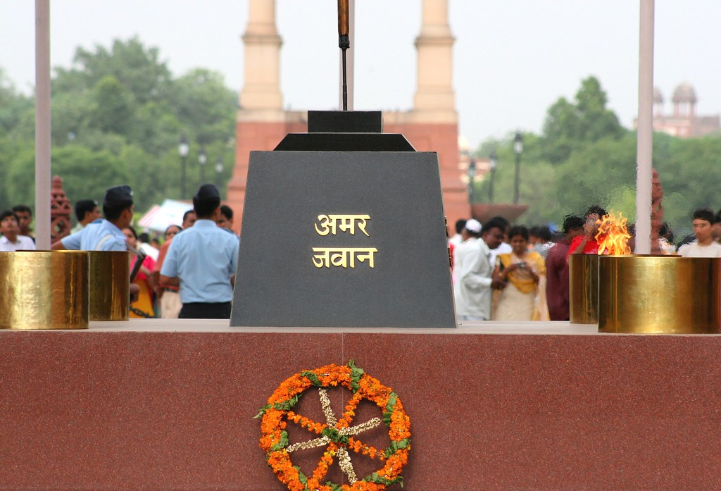 Image result for delhi gate amar jawan jyothi