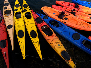 Kayaks for rent in Rockport, Massachusetts | by Len Radin