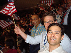 At the DNC with CT4O National Co-Chairs Sunil Paul and Sanjay Wagle | by CleanTech For Obama (CT4O)