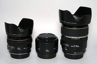 Canon EF 28mm f/1.8, EF 50mm f/1.8 and EF-S 17-85mm IS lenses | by Stephen Edmonds