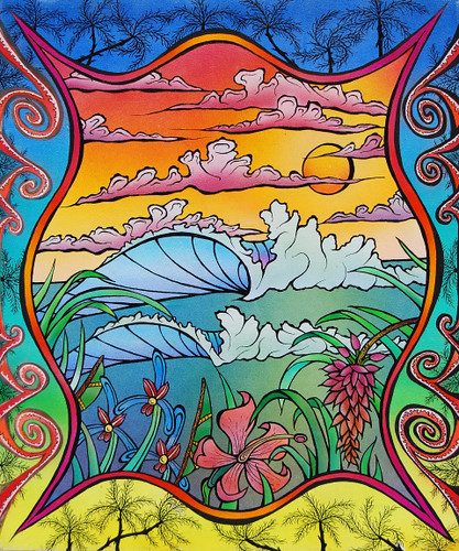 tropical painting by frank errickson sunset beach flickr