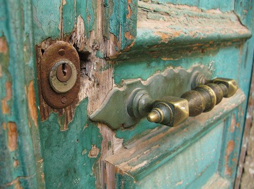 "Green door detail | by Lea ""Fine van Brooklin"""